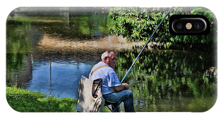 Chartres IPhone X Case featuring the photograph Chartres, France, A Good Day Fishing by Curt Rush