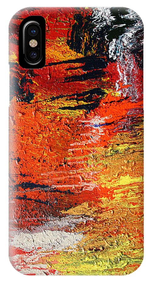 Fusionart IPhone X Case featuring the painting Chasm by Ralph White