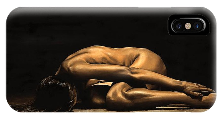 Nude IPhone Case featuring the painting Chastity by Richard Young
