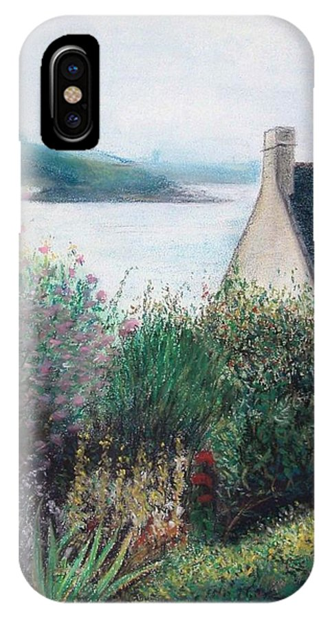 Landscape IPhone Case featuring the painting Chausey by Muriel Dolemieux