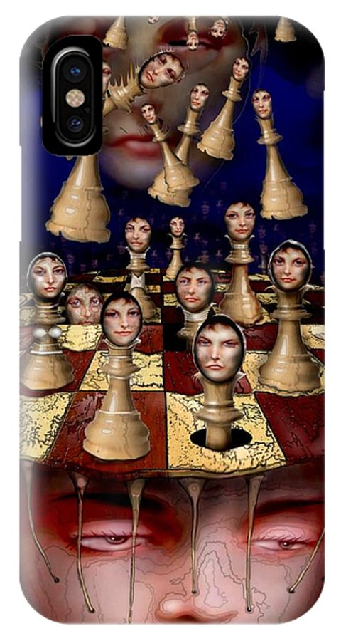 Fantastic Realism IPhone X / XS Case featuring the digital art Checkmate by Rick Simpson