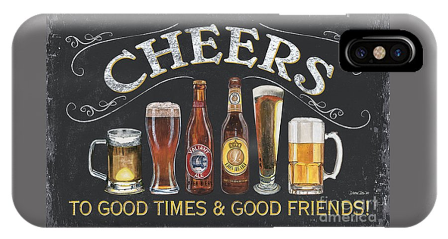 Cheers IPhone X Case featuring the painting Cheers by Debbie DeWitt