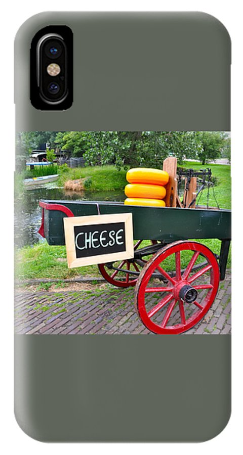 Cheese IPhone X Case featuring the photograph Cheese On A Wagon by Caroline Reyes-Loughrey