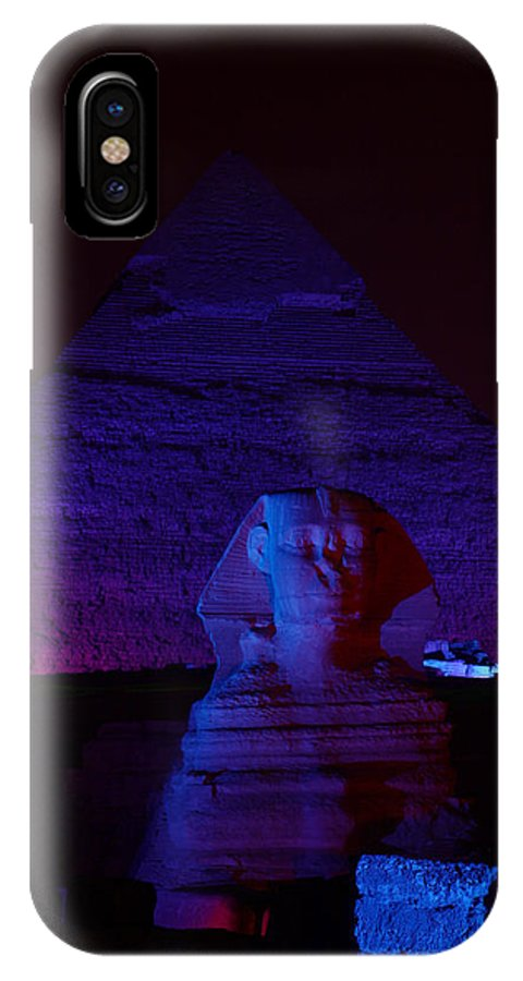 Pyramid IPhone X Case featuring the photograph Cheops In Blue by Donna Corless