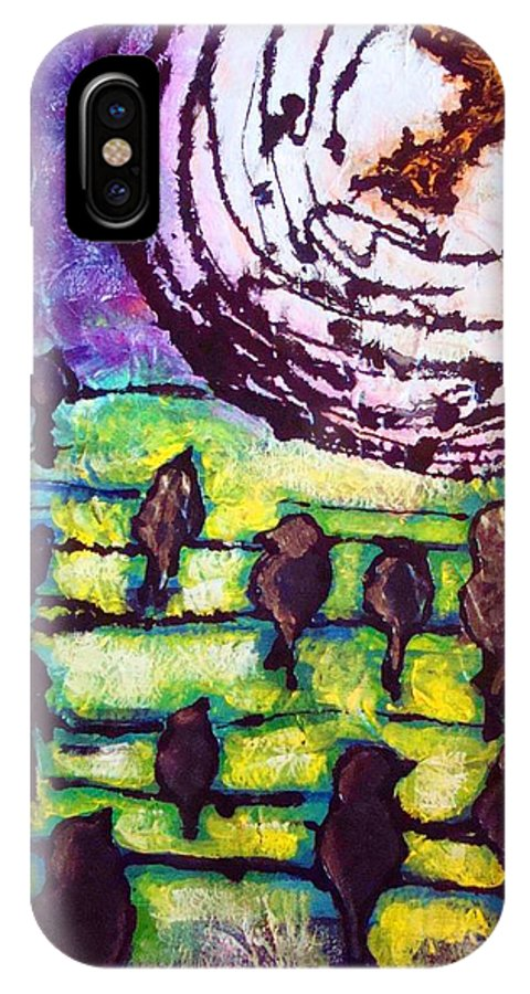 Birds IPhone Case featuring the painting Cherokee Father Fly Away Home by Laura Grisham