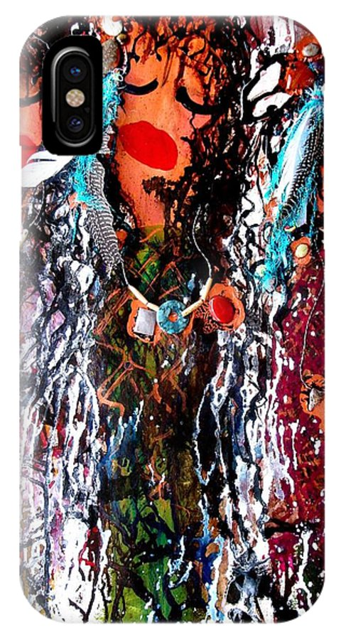 Fine Art IPhone X Case featuring the painting Cherokee Trail of Tears by Laura Grisham