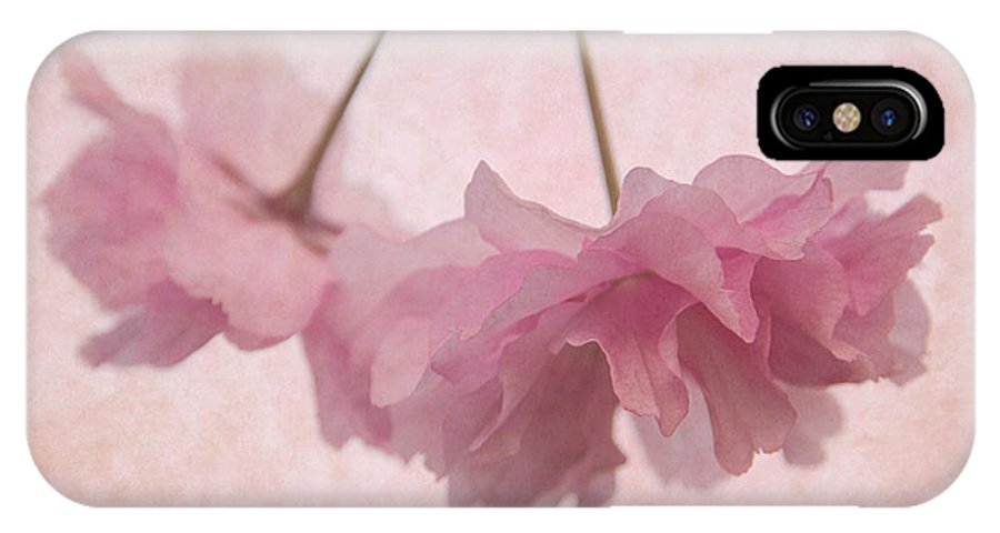 Cherry Blossom IPhone X Case featuring the photograph Cherry Blossom Froth by Ann Garrett