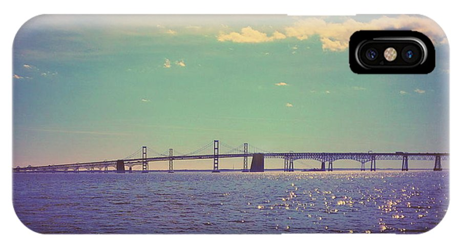 Chesapeake Bay IPhone X Case featuring the photograph Chesapeake Bay Bridge by Paul Kercher