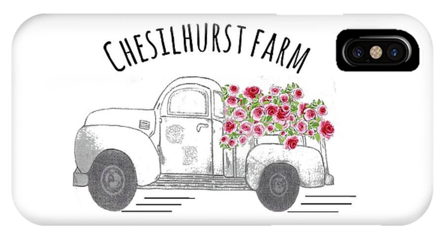 Chesilhurst Farm IPhone X Case featuring the drawing Chesilhurst Farm by Kim Kent