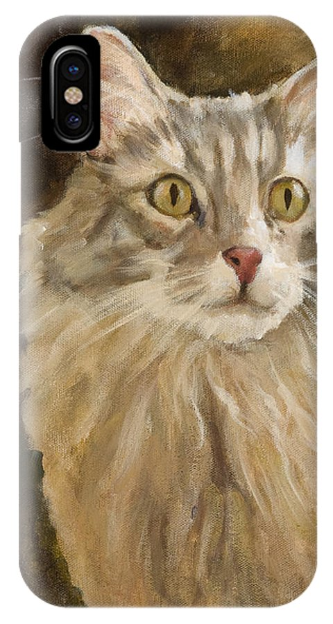 Animal IPhone X Case featuring the painting Chessie by Jimmie Trotter