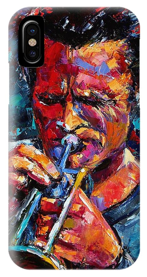 Chet Baker IPhone X Case featuring the painting Chet Baker by Debra Hurd