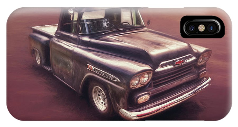 Classic Car IPhone X Case featuring the photograph Chevrolet Apache Pickup by Scott Norris