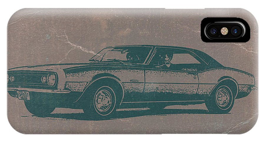 1968 Chevy Camaro IPhone X Case featuring the photograph Chevy Camaro by Naxart Studio