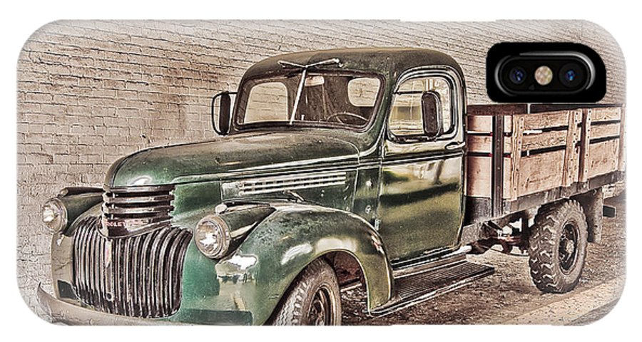 Truck IPhone Case featuring the digital art Chevy Truck by Ches Black