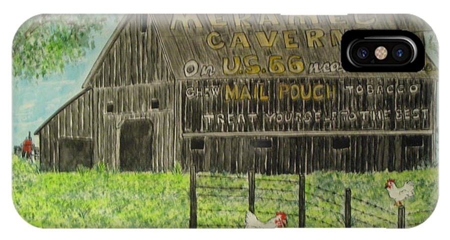 Chew Mail Pouch IPhone X Case featuring the painting Chew Mail Pouch Barn by Kathy Marrs Chandler