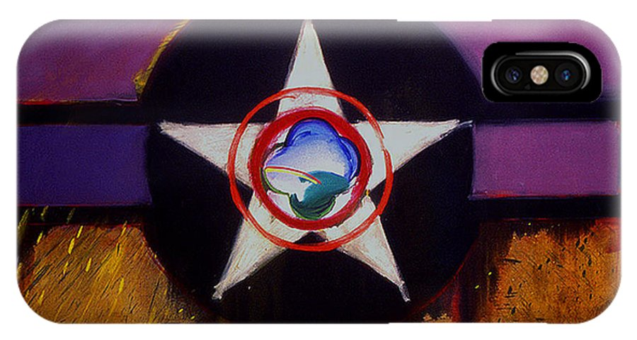 Air Force Insignia IPhone X Case featuring the painting Cheyenne Autumn by Charles Stuart