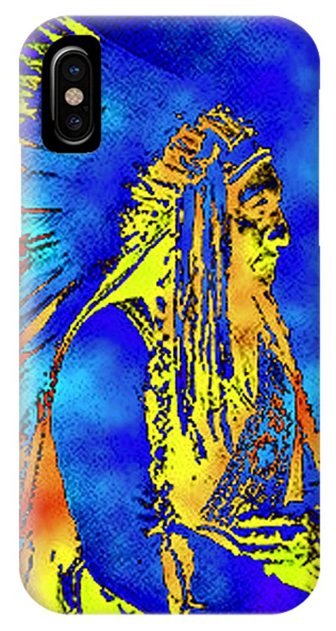 Nativeamerican IPhone X Case featuring the photograph Cheyenne Chief by Ben Freeman