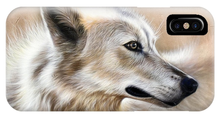 Acrylic IPhone Case featuring the painting Cheyenne by Sandi Baker