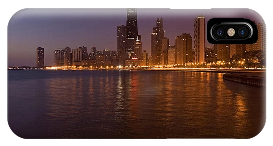 Chicago Skyline IPhone X Case featuring the photograph Chicago Dawn by Sven Brogren