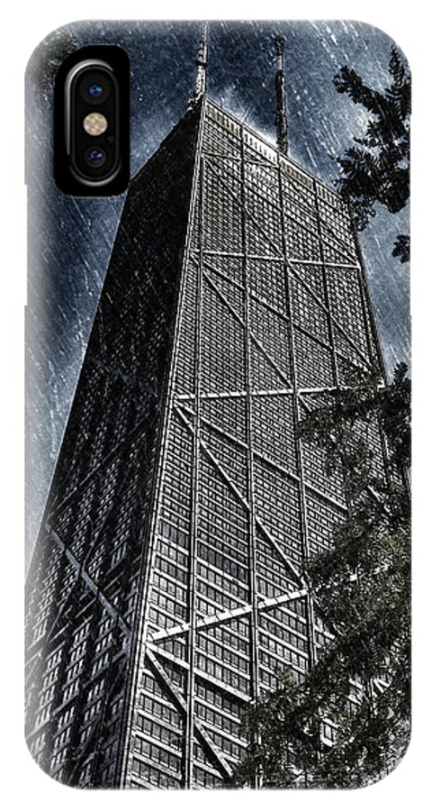 Chicago IPhone X Case featuring the photograph Chicago John Hancock In June Pa 01 by Thomas Woolworth