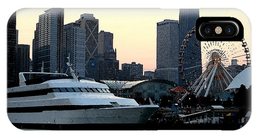 Photo IPhone X Case featuring the photograph Chicago Navy Pier by Glory Fraulein Wolfe