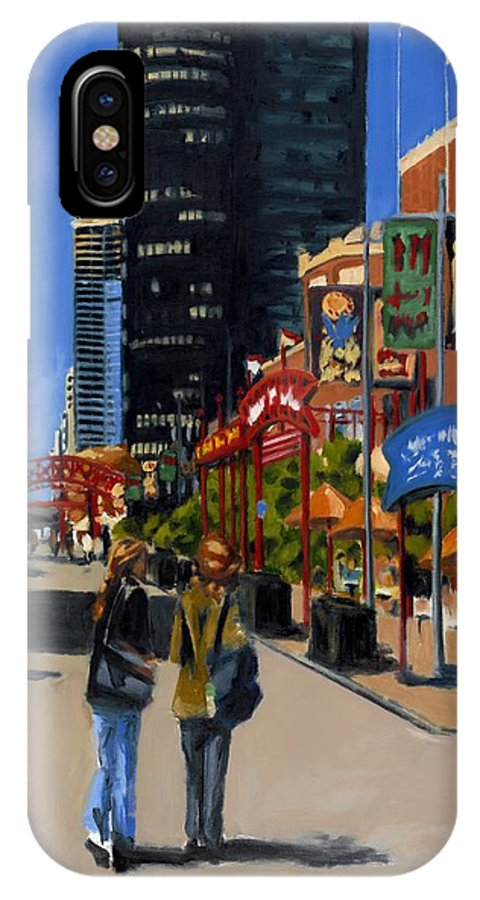 Chicago IPhone X Case featuring the painting Chicago - Navy Pier by Robert Reeves