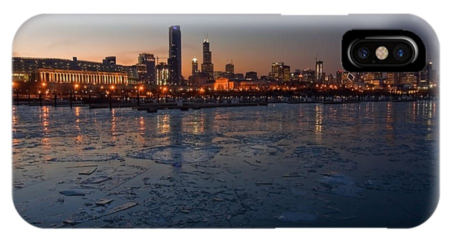 Chicago IPhone Case featuring the photograph Chicago Skyline At Dusk by Sven Brogren