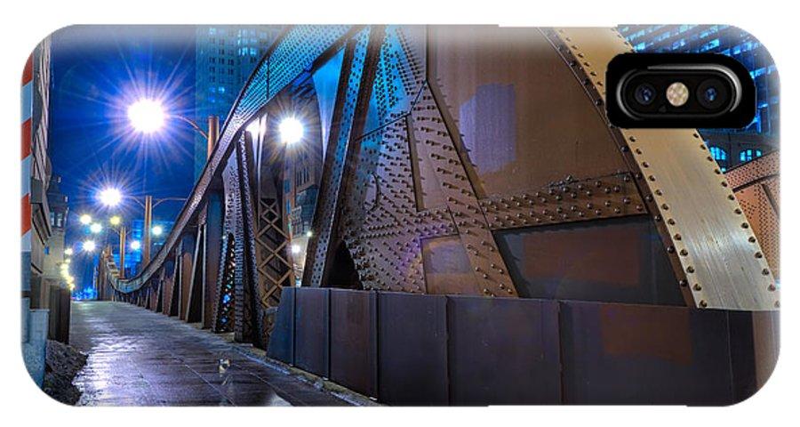 Bridge IPhone X Case featuring the photograph Chicago Steel Bridge by Steve Gadomski