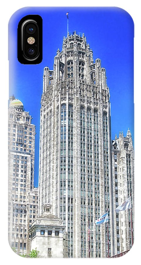 Cities IPhone X Case featuring the photograph Chicago The Gothic Tribune Tower by Thomas Woolworth