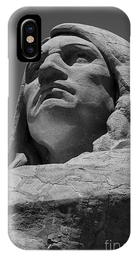 Black And White IPhone X Case featuring the photograph Chief Black Hawk - 2 by David Bearden