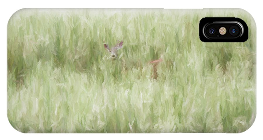 Digital IPhone X Case featuring the digital art Child Of The Meadows by Dawn J Benko