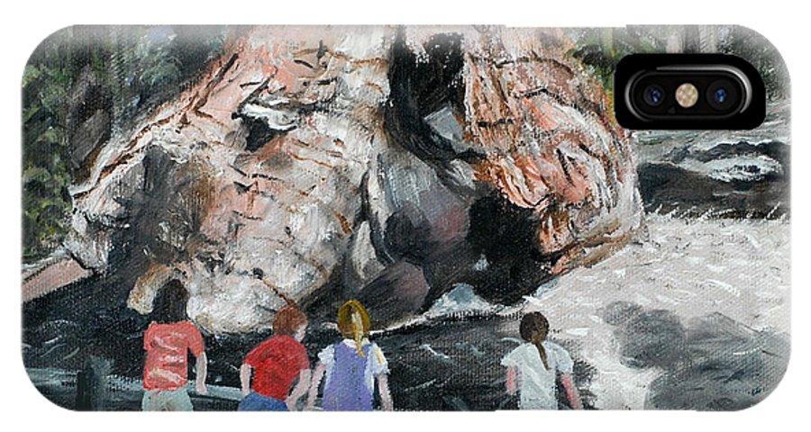 Children IPhone X Case featuring the painting Children At Sequoia National Park by Quwatha Valentine