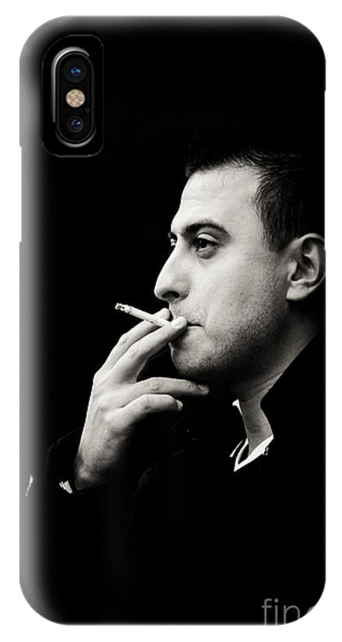 Young Man IPhone X Case featuring the photograph Chill by Gabriela Insuratelu