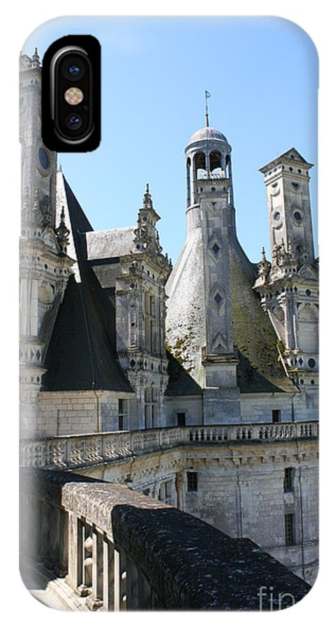 Chimney IPhone X Case featuring the photograph Chimney From Chambord - Loire by Christiane Schulze Art And Photography