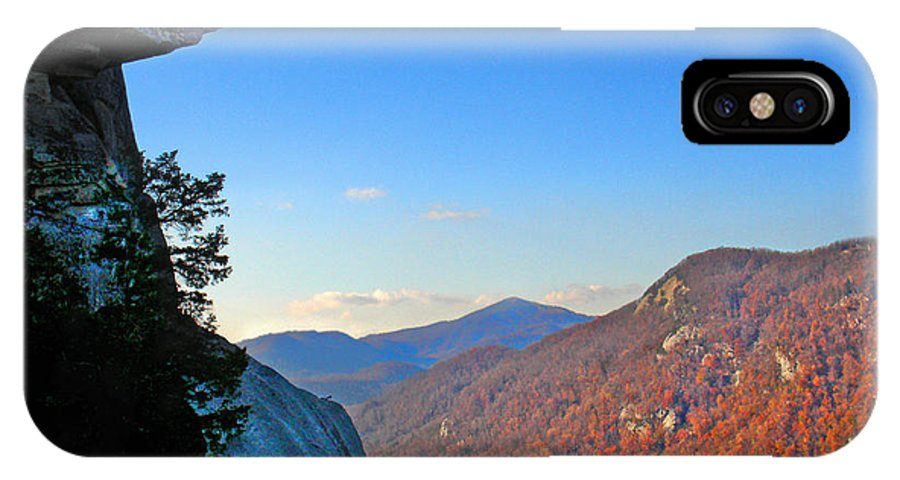 Landscape IPhone X / XS Case featuring the photograph Chimney Rock 2 by Steve Karol