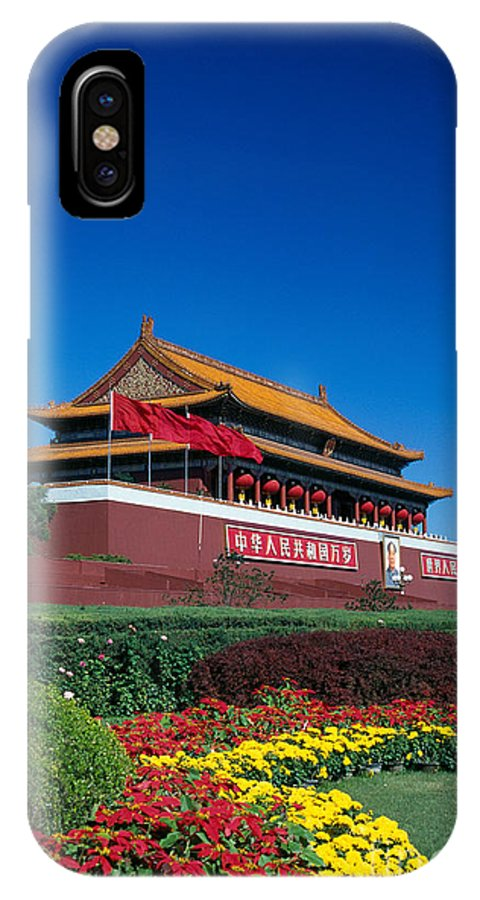 Architecture IPhone X Case featuring the photograph China, Beijing by Gloria & Richard Maschmeyer - Printscapes