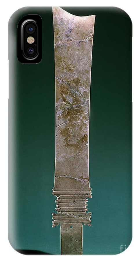 Ancient IPhone X Case featuring the photograph China: Jade Blade by Granger