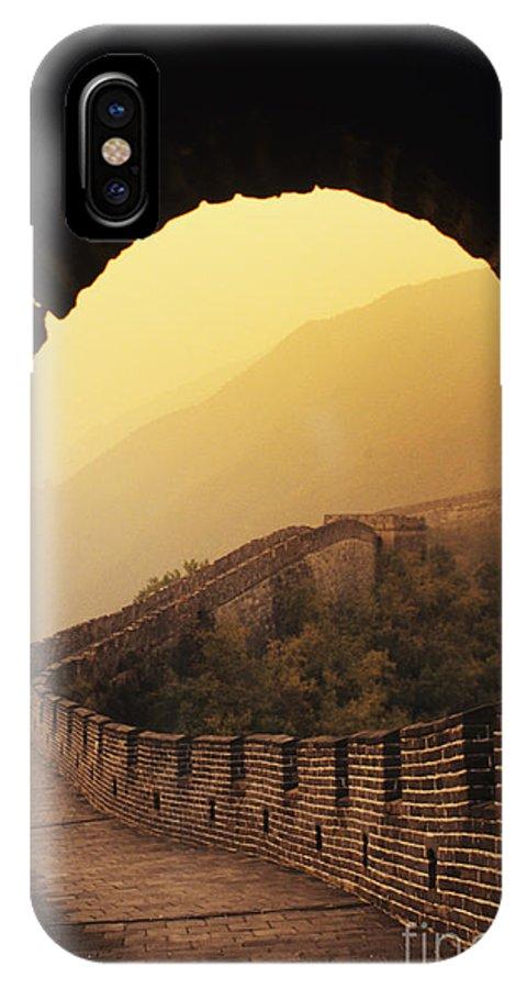 Afar IPhone X Case featuring the photograph China, Mu Tian Yu by Gloria & Richard Maschmeyer - Printscapes