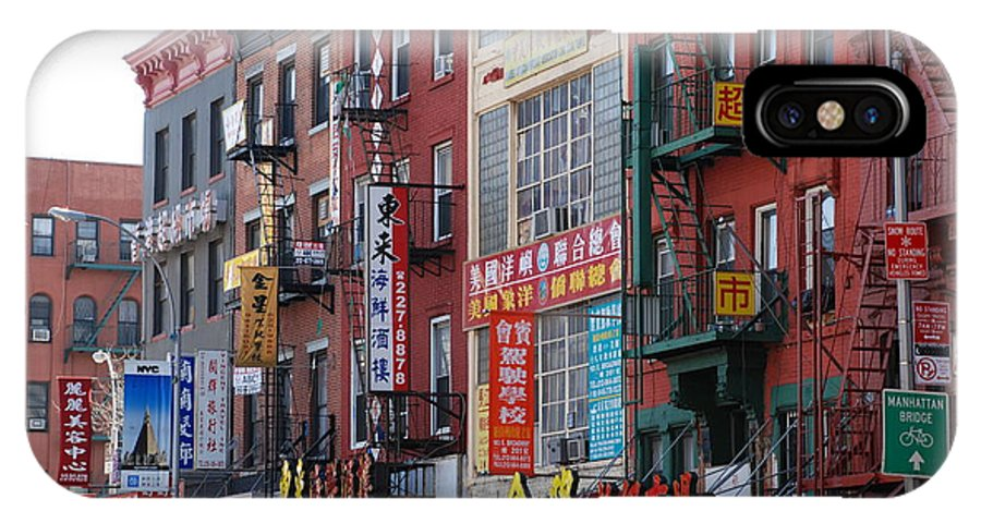 Architecture IPhone Case featuring the photograph China Town Buildings by Rob Hans
