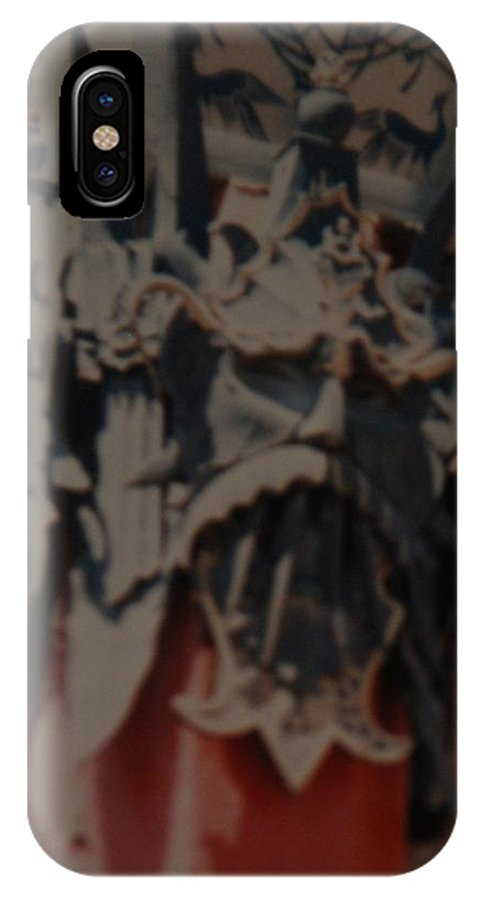 Grumanns Chinese Theater IPhone X / XS Case featuring the photograph Chinese Masks by Rob Hans