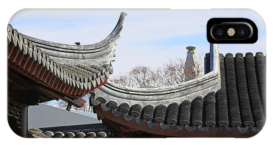 Roofs IPhone X Case featuring the photograph Chinese Rooflines by Nareeta Martin