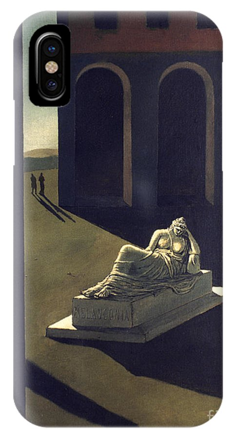 1914 IPhone X Case featuring the photograph Chirico: Melancolie, 1914 by Granger