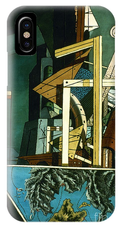 1916 IPhone X Case featuring the photograph Chirico: Melancolie by Granger
