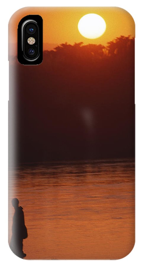 Sunset IPhone X Case featuring the photograph Chitwan Sunset by Patrick Klauss