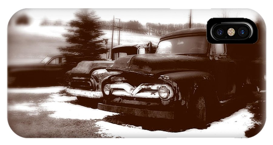 Old Cars IPhone X Case featuring the photograph Chocolate Ghosts by Jean Macaluso