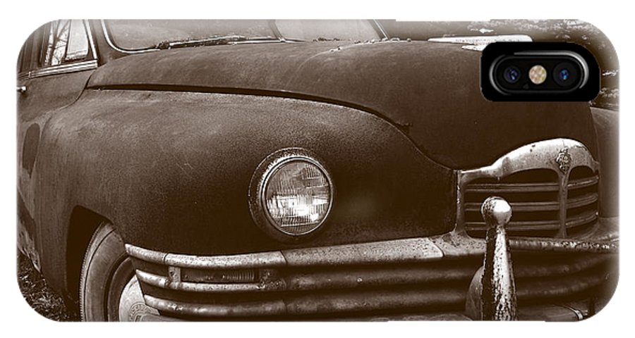 Old Car IPhone X Case featuring the photograph Chocolate Moose by Jean Macaluso