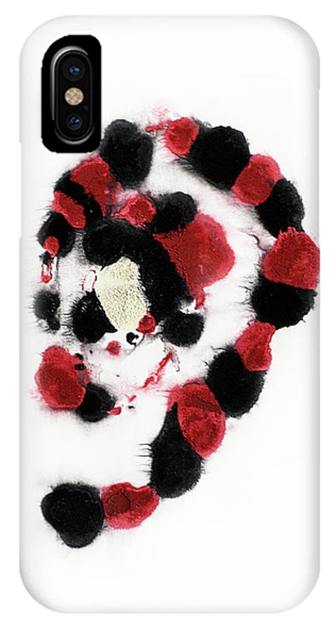 Aquarelle IPhone X Case featuring the painting Chocolate Truffles by Jana Lulovska