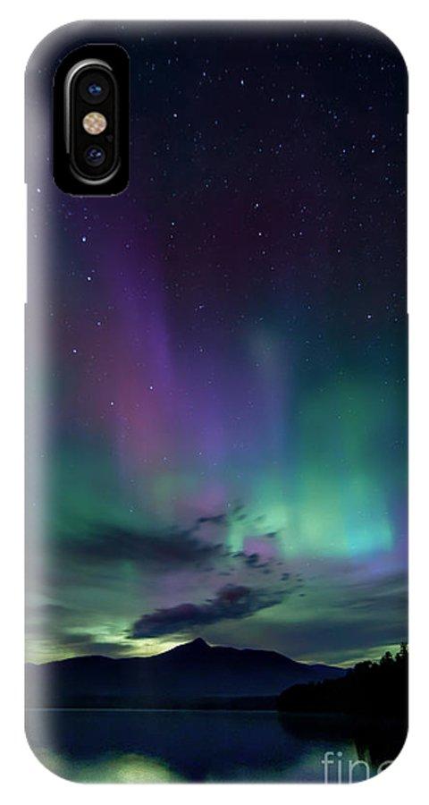 Chocorua IPhone X Case featuring the photograph Chocorua Aurora by Scott Thorp