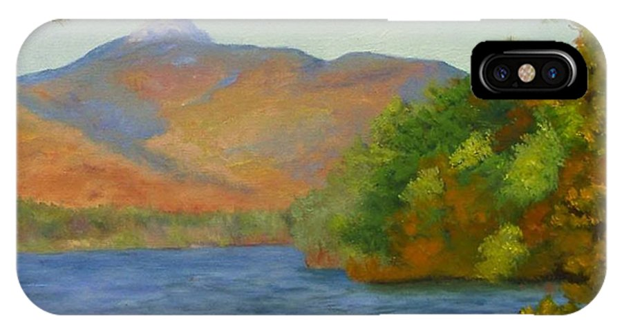 Mount Chocorua And Chocorua Lake IPhone X Case featuring the painting Chocorua by Sharon E Allen