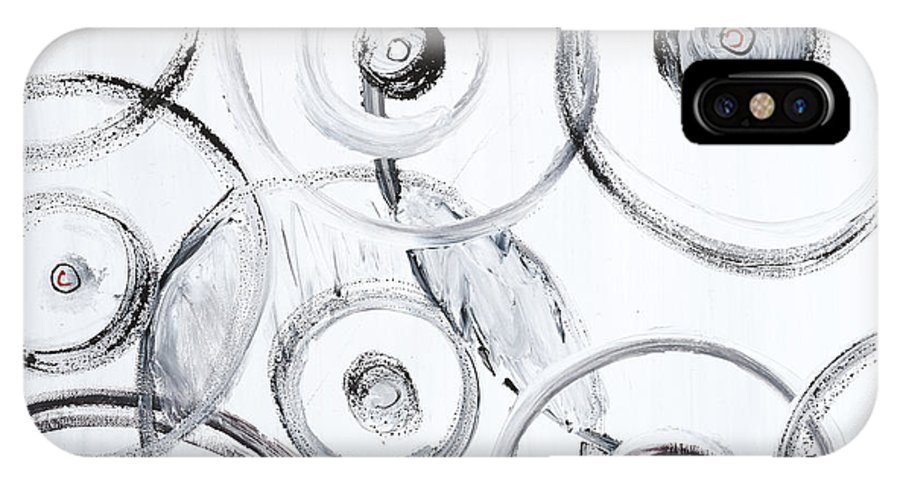 Circles IPhone Case featuring the painting Choices In White by Nadine Rippelmeyer